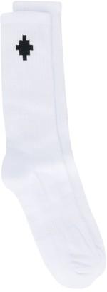Marcelo Burlon County of Milan Logo Socks