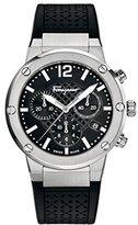 Salvatore Ferragamo Women's FIH010015 F-80 Chrono Analog Display Quartz Black Watch