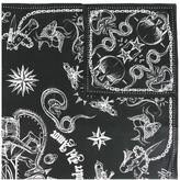Givenchy tattoo print scarf - unisex - Silk/Cotton/Wool - One Size
