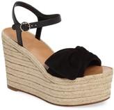Valentino Bow Espadrille Wedge Sandal
