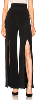 Cushnie et Ochs Crepe High Waisted Front Slit Pants in Black.