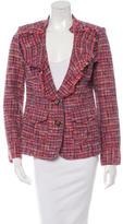 Tory Burch Ruffle-Trimmed Tweed Jacket