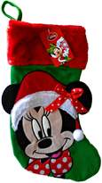"""Disney Christmas Stocking Minnie Mouse Big Face 18"""" New MMBF"""