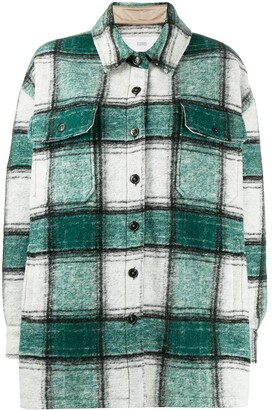 Closed Checked Oversized Flannel Shirt