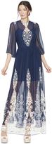 Alice + Olivia Aquinnah Bell Sleeve Maxi Dress