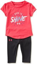 Under Armour Baby Girls 12-24 Months Born To Shine Short-Sleeve Tee & Capri Leggings Set