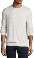 Vince Featherweight Crewneck Sweater, Heather White