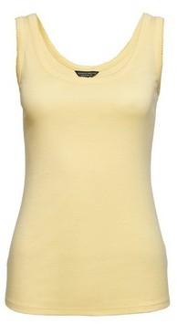 Dorothy Perkins Womens Yellow Picot Trim Vest, Yellow