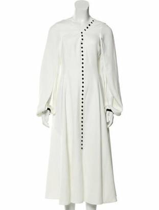 ADEAM Button-Up Midi Dress
