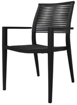 Chloé Patio Dining Chair Source Contract Color: Charcoal