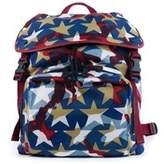 Valentino Multicolor Red Blue White Camustar Nylon Backpack.