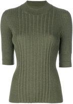 Maison Margiela 3/4 sleeve knitted top - women - Wool - S