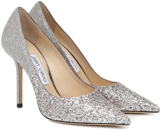 Jimmy Choo Love 100 glitter pumps