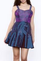 Dawn Sunflower Purple Silk Mini Dress