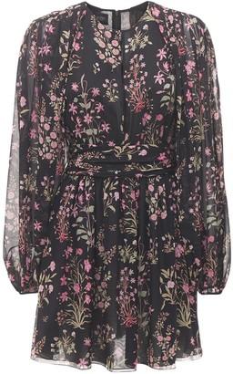 Giambattista Valli Printed Silk Georgette Mini Dress