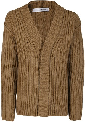 Salvatore Ferragamo Camel Virgin Wool Cardigan