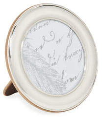 "Monica Rich Kosann Round Sterling Silver Picture Frame, 3.5""Dia."