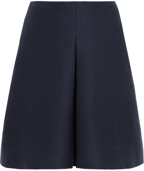 Burberry Cotton and silk-blend skirt