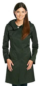 DKNY Hooded Cotton A-line Raincoat