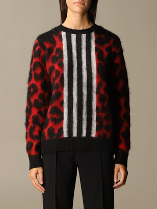 N°21 N deg; 21 Pullover In Mohair And Wool Mix Animalier