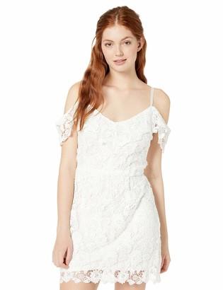 Jack by BB Dakota Junior's take me Downtown lace Cold-Shoulder Dress