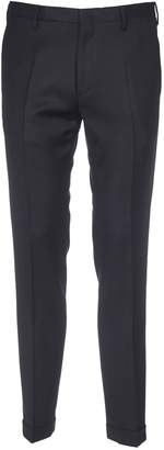 Paul Smith Dark Blue Trousers With Side Slash Pocket