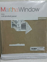 Martha Stewart Marthawindow Flutter Rod-pocket Sheer Panel Sheer Linen 50 X 84