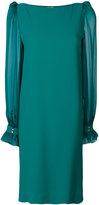 Roberto Cavalli sheer sleeve dress - women - Silk/Spandex/Elastane/Viscose - 42