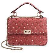 Valentino Medium Rockstud Stitched Suede Chain Shoulder Bag