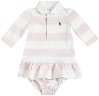 Ralph Lauren Striped Cotton Interlock Dress & Diaper