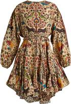 RHODE RESORT Ella fluted-hem cotton dress