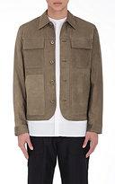 Helmut Lang Men's Nubuck Field Jacket-DARK GREEN