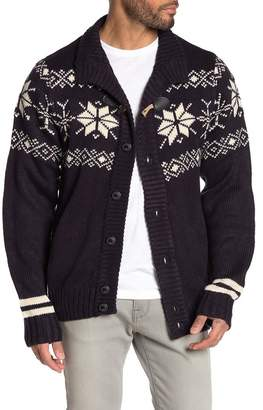Weatherproof Fair Isle Toggle Knit Cardigan