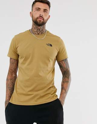 The North Face Simple Dome t-shirt in khaki-Green