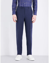 Canali Regular-fit Linen And Silk-blend Chinos