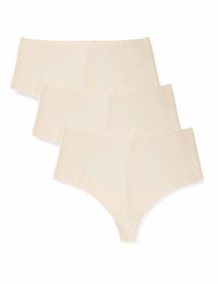 Iris & Lilly Amazon Brand Women's Microfibre Thong Pack of 3