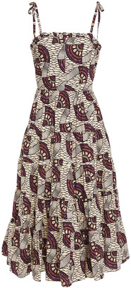 Ulla Johnson Ellyn Gathered Printed Cotton-poplin Midi Dress
