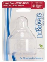 Dr Browns Dr. Brown's Wide Neck Baby Bottle Nipple 2 Pack Size: Level 4