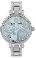 Betsey Johnson Women&s Crystal Paisley Bracelet Watch
