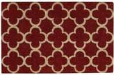 "Nourison Waverly Greetings ""Framework"" Red Doormat"