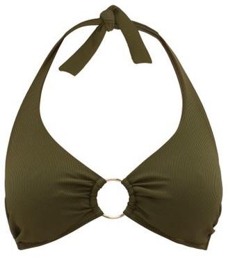 Melissa Odabash Brussels Underwired Halterneck Bikini Top - Dark Green