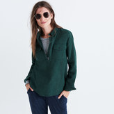 Madewell Flannel Zip-Front Popover Shirt