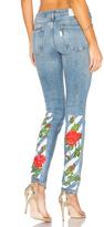 Off-White Diag Roses 5 Pocket Skinny Jeans