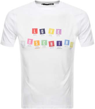 Moschino Love Logo T Shirt White