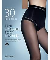 John Lewis 30 Denier Semi Opaque Body Shaper Tights