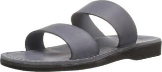 Jerusalem Sandals Women's Aviv Rubber Slide Sandal Gray 38 EU/7 M US