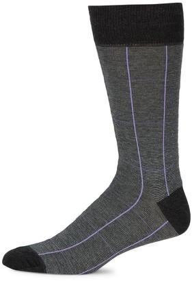 Saks Fifth Avenue COLLECTION Windowpane Socks