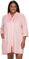 Croft & Barrow Plus Size Zip-Front Terry Robe