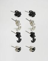 ICON BRAND Stud Earrings In 4 Pack