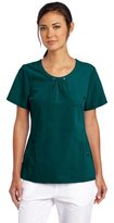 Dickies Scrubs Women's Xtreme Stretch Junior Fit Scoop Neck Top